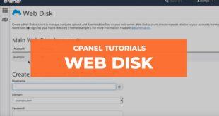 Cum sa folosim Web Disk in cPanel